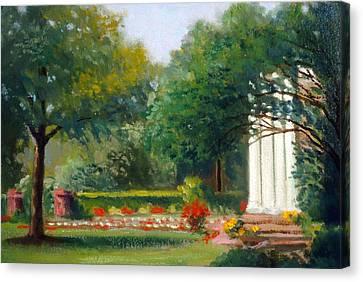 Garden In Nj Impression Canvas Print by David Olander