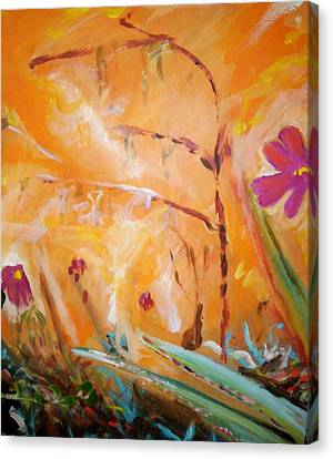 Canvas Print featuring the painting Garden Moment by Winsome Gunning