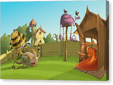 Garden Monsters Canvas Print by Andy Catling