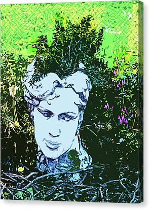 Garden Nymph Head Planter Canvas Print