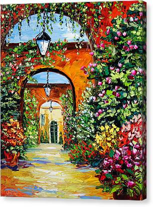 Garden Of Arches Canvas Print by Beata Sasik