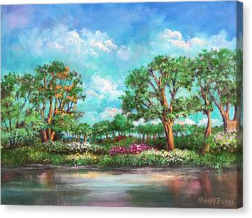 Summer In The Garden Of Eden Canvas Print by Randy Burns
