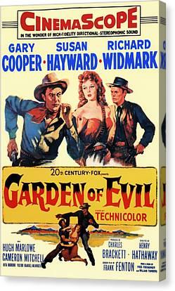 Garden Of Evil 1954 Canvas Print by Mountain Dreams