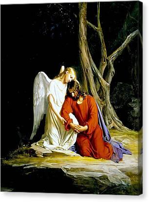 Garden Of Gethsemane 1873 Carl Heinrich Bloch  Canvas Print by Movie Poster Prints