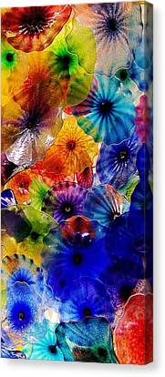 Canvas Print featuring the photograph Garden Of Glass Triptych 3 Of 3 by Benjamin Yeager