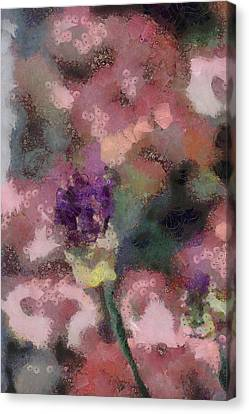Canvas Print featuring the mixed media Garden Of Love by Trish Tritz