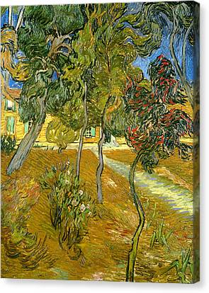 Garden Of Saint Paul's Hospital Canvas Print by Vincent van Gogh