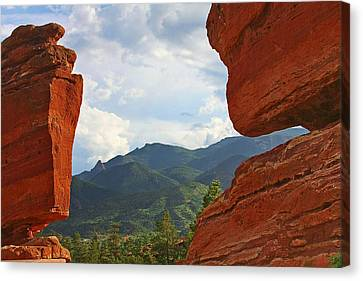 Garden Of The Gods - Colorado Springs Canvas Print by Christine Till