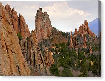 Garden Of The Gods - Colorado  Canvas Print by Mike McGlothlen
