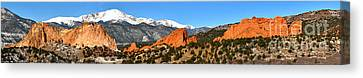 Canvas Print featuring the photograph Garden Of The Gods Extended Panorama by Adam Jewell