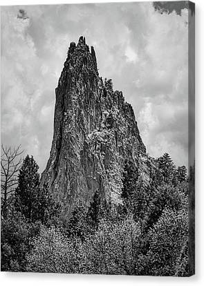 Garden Of The Gods Monotone Canvas Print