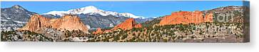 Canvas Print featuring the photograph Garden Of The Gods Spring Panorama by Adam Jewell