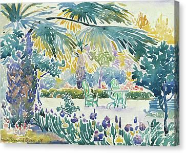 Garden Of The Painter At Saint Clair, 1908  Canvas Print by Henri Edmond Cross
