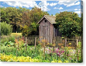 Garden Outhouse At Old World Wisconsin Canvas Print by Christopher Arndt