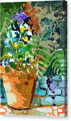 Blue Begonia Canvas Print - Garden Party by Mindy Newman