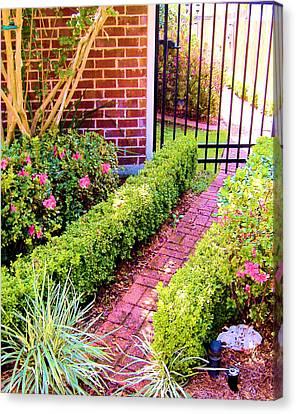 Canvas Print featuring the photograph Garden Path by Diane Ferguson