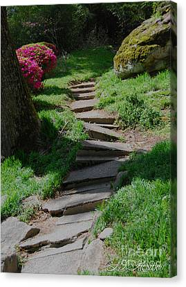 Garden Path Canvas Print by Linda Mesibov