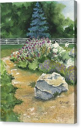 Garden Path Canvas Print by Marsha Elliott