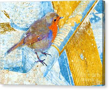 Canvas Print featuring the photograph Garden Robin by LemonArt Photography