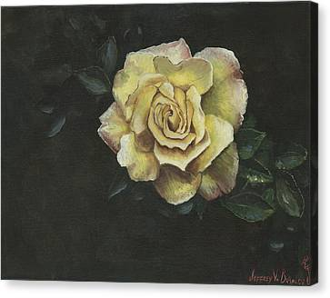 Garden Rose Canvas Print by Jeff Brimley