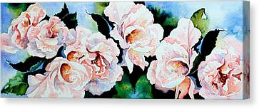 Garden Roses Canvas Print by Hanne Lore Koehler