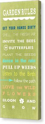Garden Rules Canvas Print