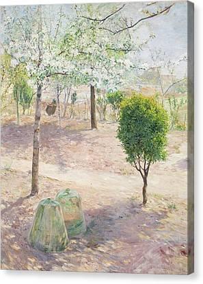 Garden Scene From Grez Canvas Print by Gottfrid