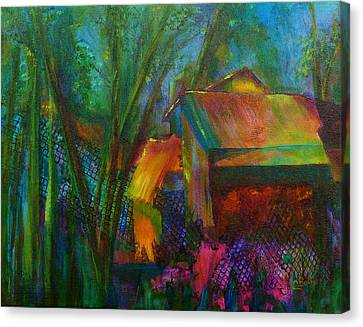Garden Shed Canvas Print by Claire Bull