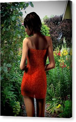 Garden Stroll Canvas Print by Nancy Pauling