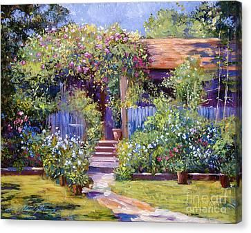 Garden Summer Cottage Canvas Print