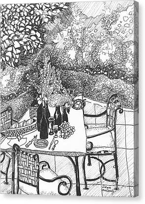 Garden Table Canvas Print by Jo Anna McGinnis