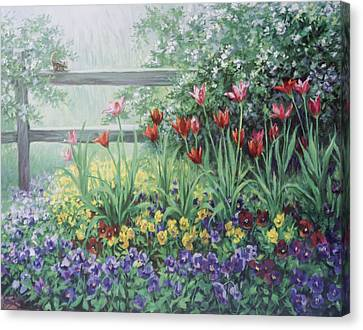 Garden Tulips Canvas Print by Laurie Hein