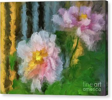 Canvas Print featuring the digital art Garden Variety by Lois Bryan