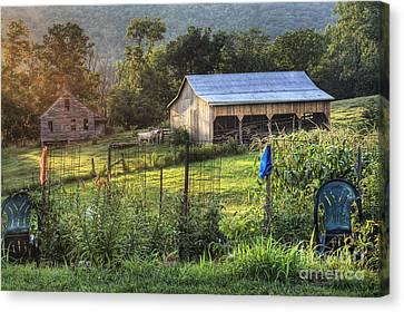 Garden View Canvas Print by Pete Hellmann