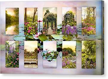 Garden Windows Collage Canvas Print by Jessica Jenney