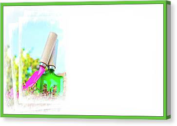 Gardening Concept Business Card Canvas Print by Tom Gowanlock