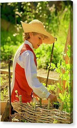 Gardening In The Spring Canvas Print