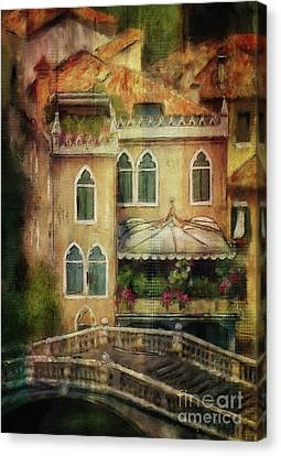 Canvas Print featuring the digital art Gardening Venice Style by Lois Bryan