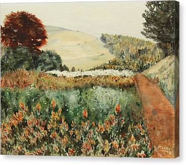 Gardens At Monticello Canvas Print by Alan Mager