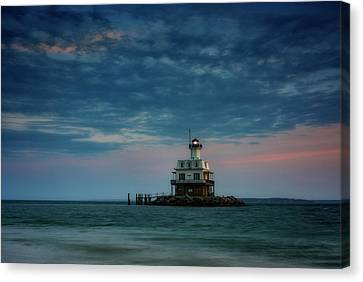 Gardiners Bay At Dusk Canvas Print by Rick Berk