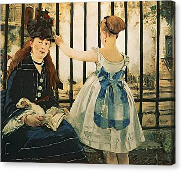 Gare St Lazare Canvas Print by Edouard Manet