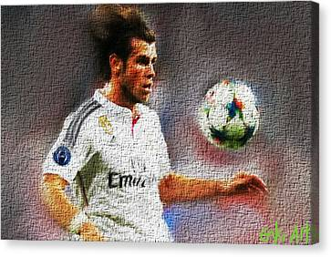 Gareth Bale  Canvas Print by Enki Art
