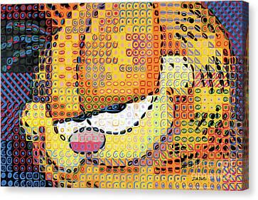 Garfield Up Close Canvas Print