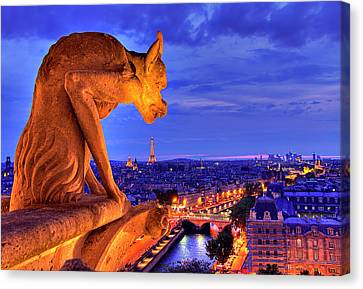 Gargoyle De Paris Canvas Print