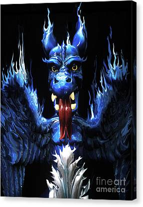 Canvas Print featuring the photograph Gargoyle by Jim and Emily Bush