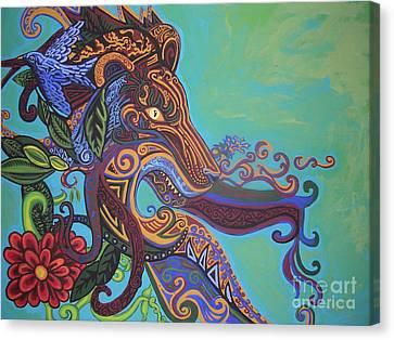 Gargoyle Lion Canvas Print by Genevieve Esson