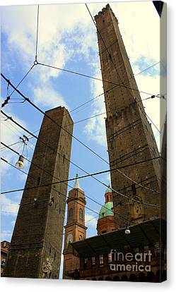 Garisenda And Asinelli Towers Canvas Print