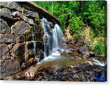 Canvas Print featuring the photograph Garland Falls I by Greg DeBeck