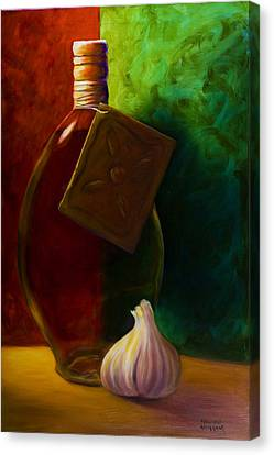 Garlic And Oil Canvas Print