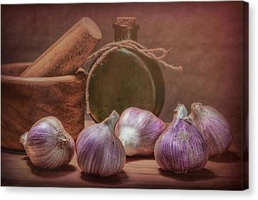 Alliums Canvas Print - Garlic Bulbs by Tom Mc Nemar